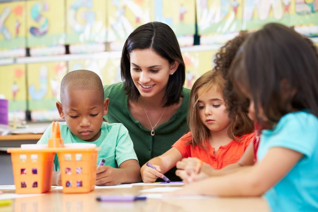 Children Accetpting a new teacher in school
