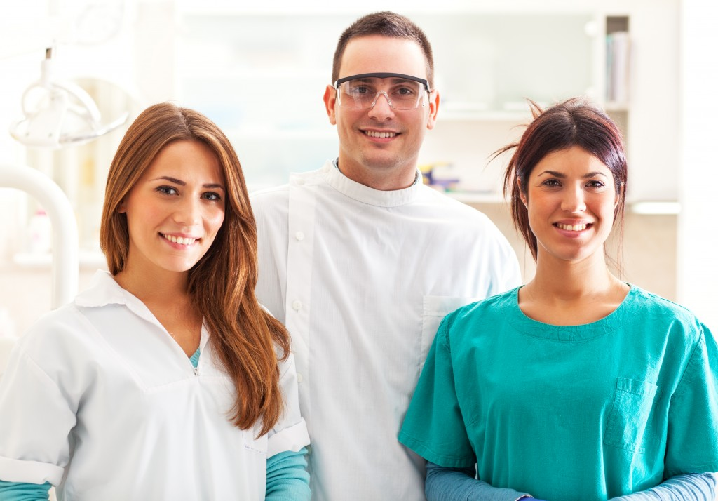 a team of dentists