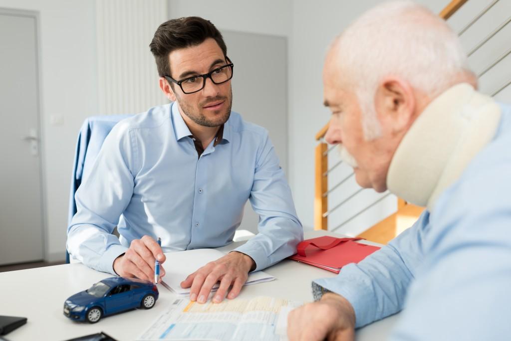 injured man claiming insurance