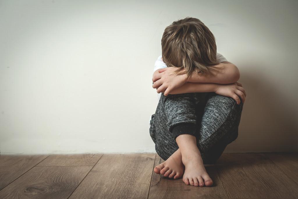 sad teen child